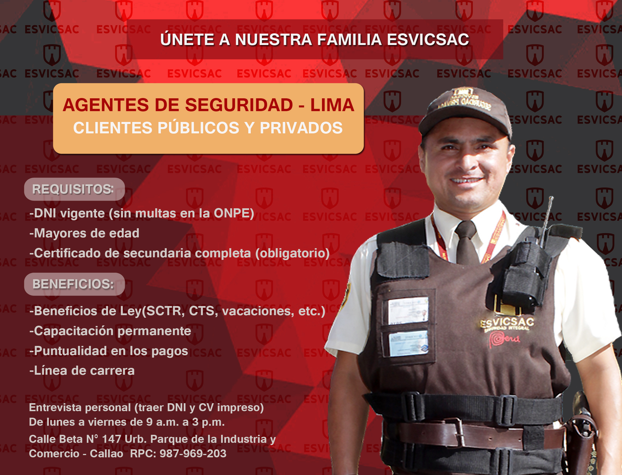 Convocatoria De Personal Lima Esvicsac
